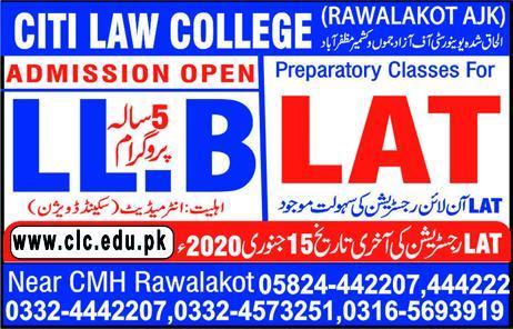 Citi Law College Rawalakot Admissions