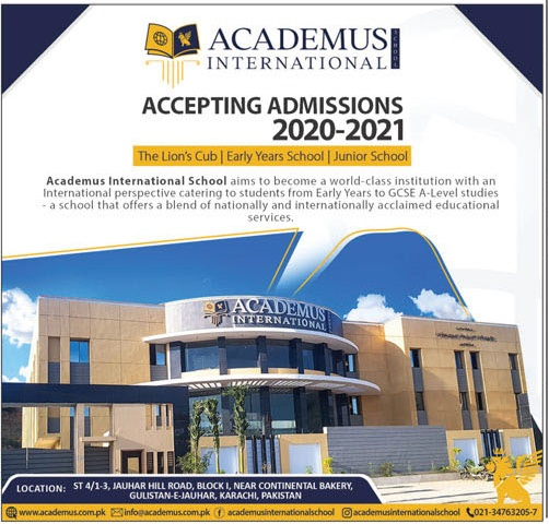 Academus International Karachi Admissions
