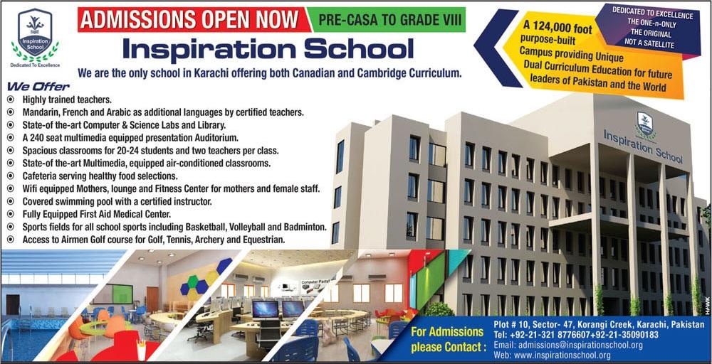 Inspiration School Karachi Admissions