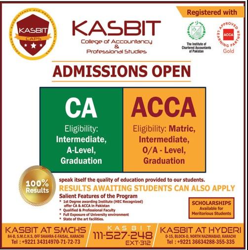 Kasbit Karachi Admissions