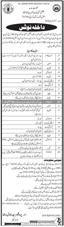 National Institute Of Child Health School Of Nursing Karachi Admissions