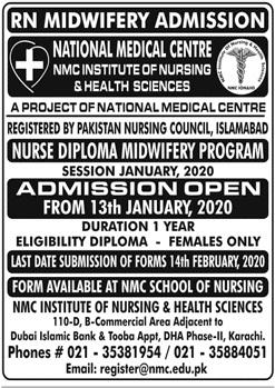 Nmc Institute Of Nursing & Health Sciences Karachi Admissions