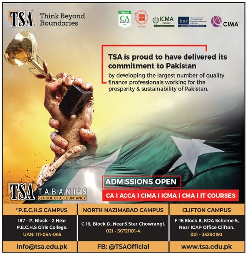 Tsa Karachi Admissions