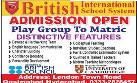 British International School System Hyderabad Admissions