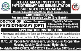 Jeejal Maau Institute Of Physiotherapy & Rehabiliation Sciences Hyderabad Admissions