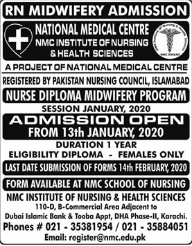 Rn Midwifery Karachi Admissions