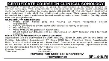 Rawalpindi Medical University Rawalpindi Offering Professional Courses