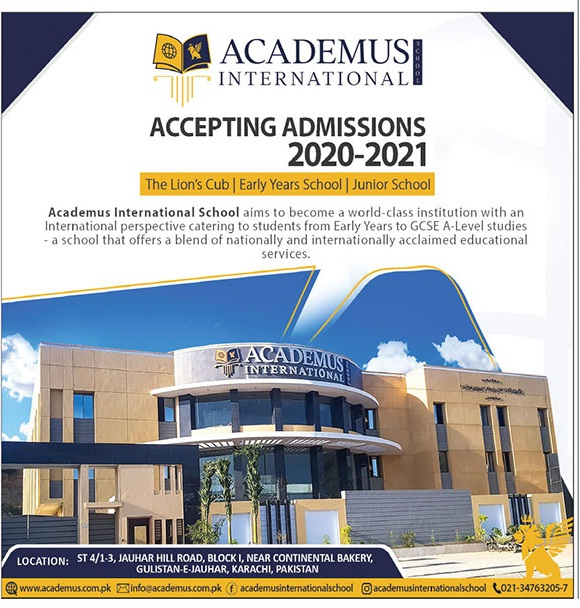 Academus International Karachi Admissions