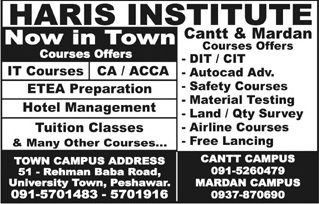 Haris Institute Mardan Admissions