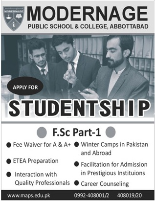 Modernage Public School & College Abbottabad Admissions