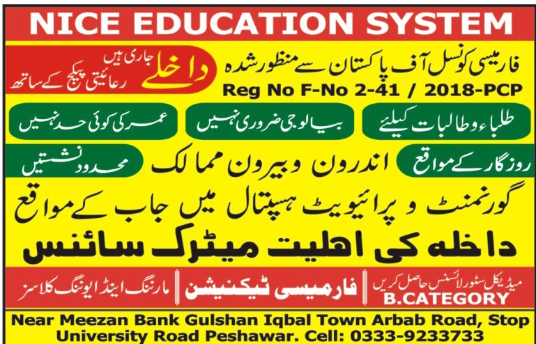 Nice Education System Peshawar Admissions