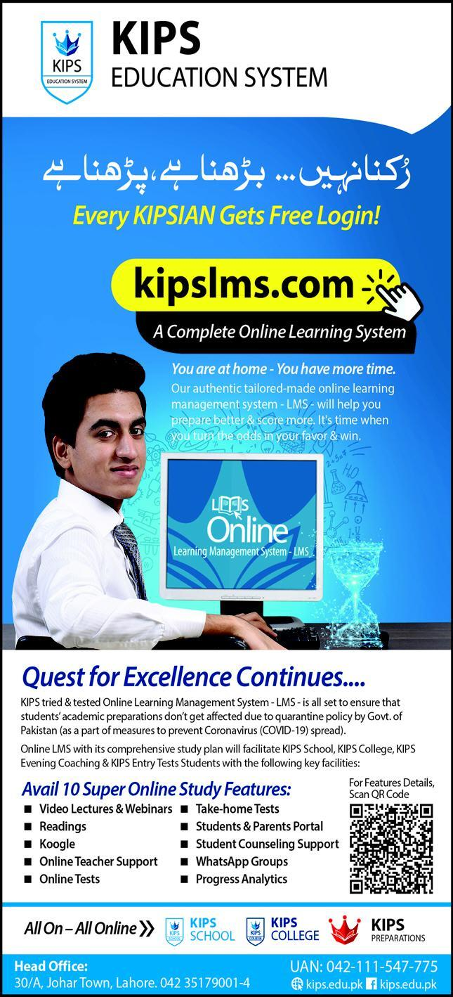 Kips Education System Lahore Admissions