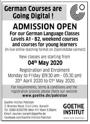 Goethe Institute Karachi Admissions