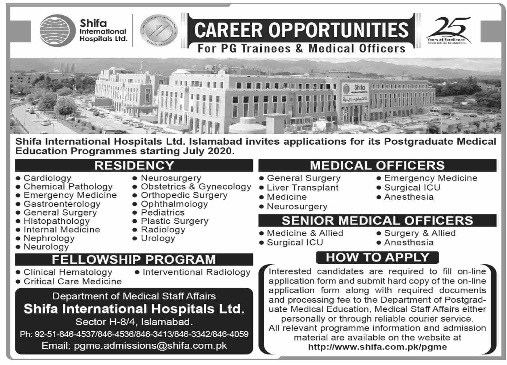 Shifa International Hospital Limited Islamabad Admissions