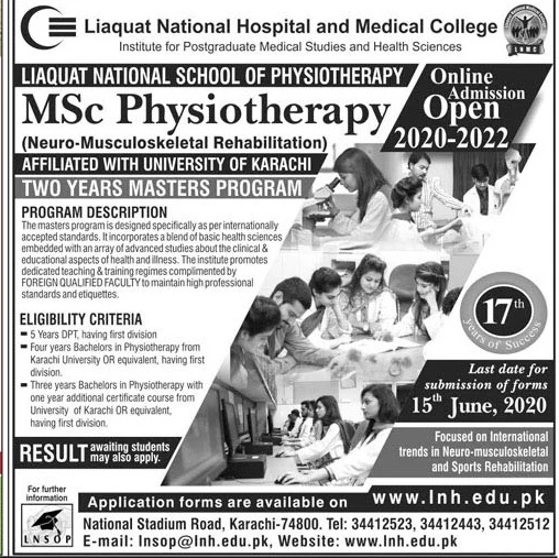 Liaquat National Hospital & Medical College Karachi Admissions