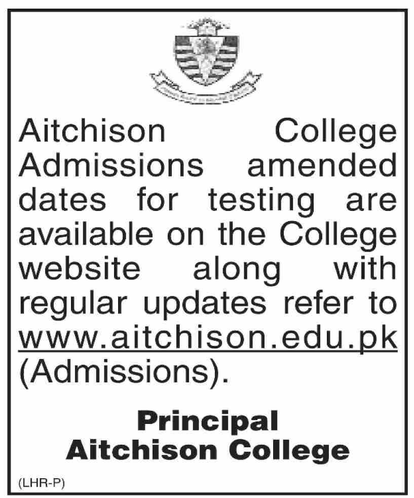 Aitchison College Admissions