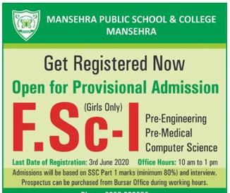 Maneshra Public School & College Admissions
