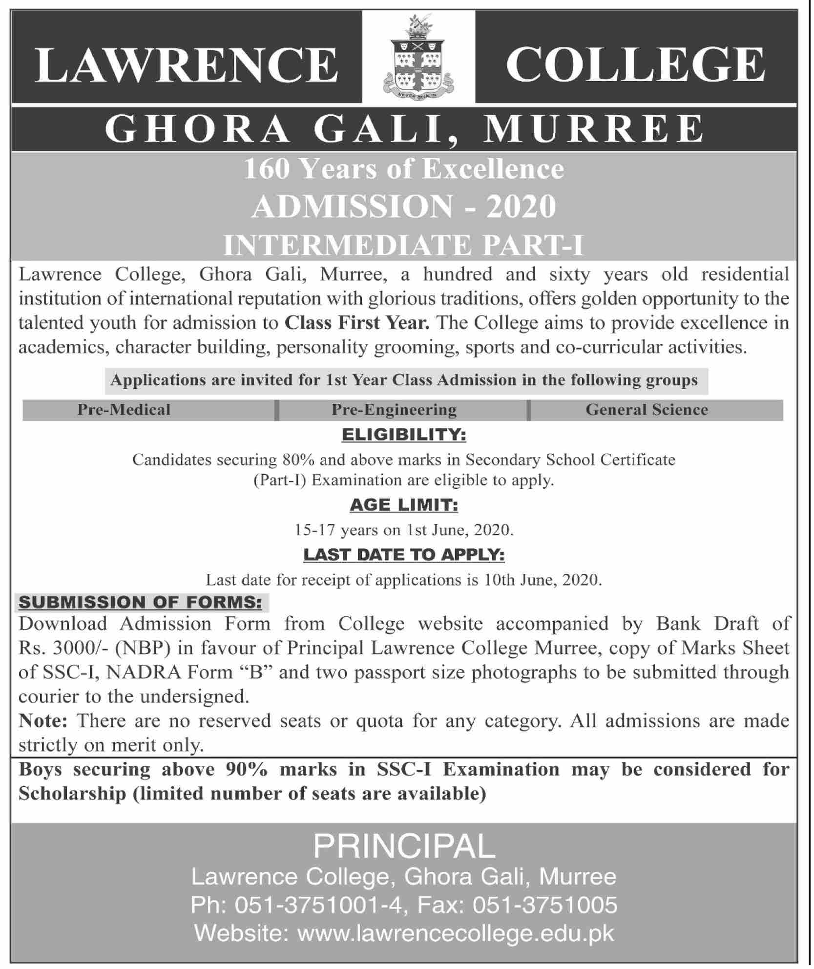 Lawrence College Murree Admissions