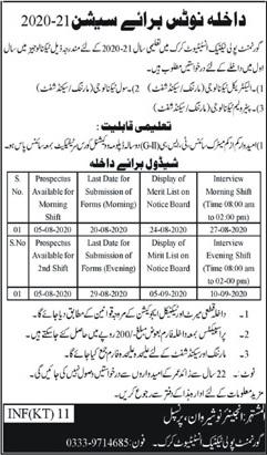 Government Polytechni Institute Karak Admissions