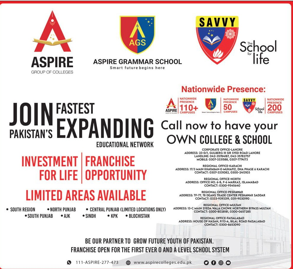 Aspire Group Of Colleges Lahore Admissions