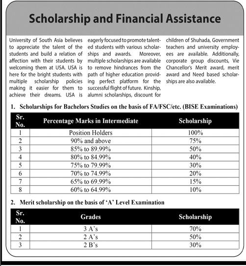 University Of South Asia Lahore Admissions (2)