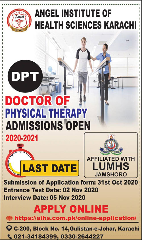 Angel Institute Of Health Sciences Karachi Admissions