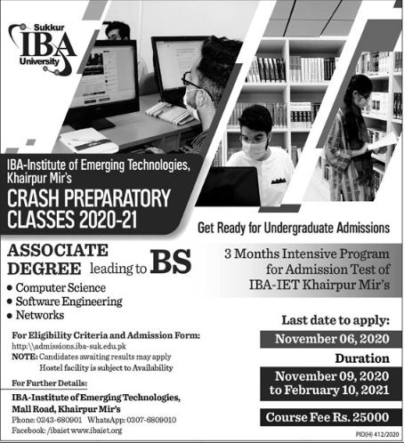 Institute Of Business Administration Karachi Admissions