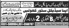 Zahra Institute Of Medical Sciences Rawalpindi Admissions