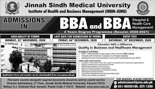 Jinnah Sindh Medical University Karachi Admissions