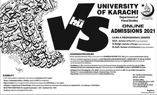 University Of Karachi Admissions(03)