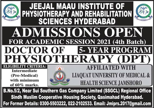 Jeejal Maau Institute Of Physiotherapy & Rehabilitation Sciences Hyderabad Admissions