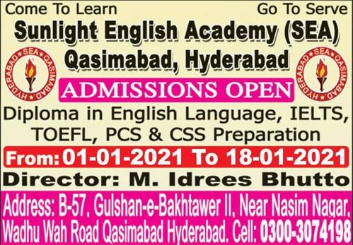 Sunlight English Academy Hyderabad Admissions