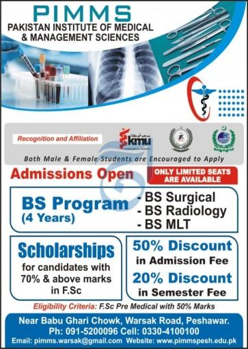 Pakistan Institute Of Medical Sciences Peshawar Admissions
