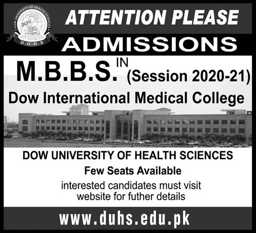 Dow University Of Health Sciences Islamabad Admissions