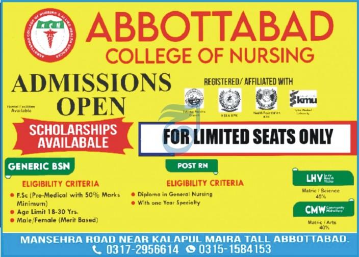 Abbottabad College Of Nursing Abbottabad Admissions