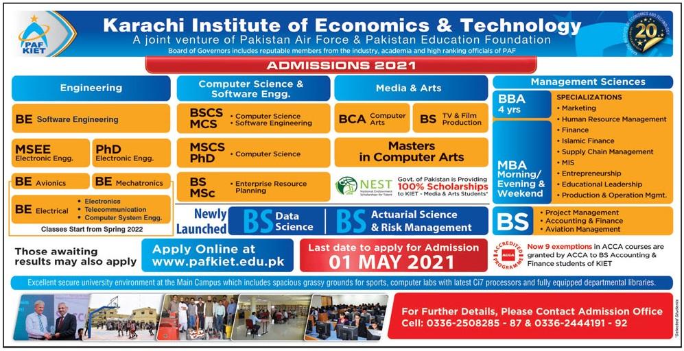 Karachi Institute Of Economics & Technology Karachi Admissions