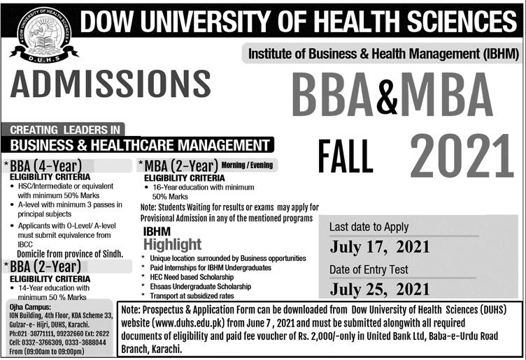 Dow University Of Health Sciences Karachi Admissions (2)