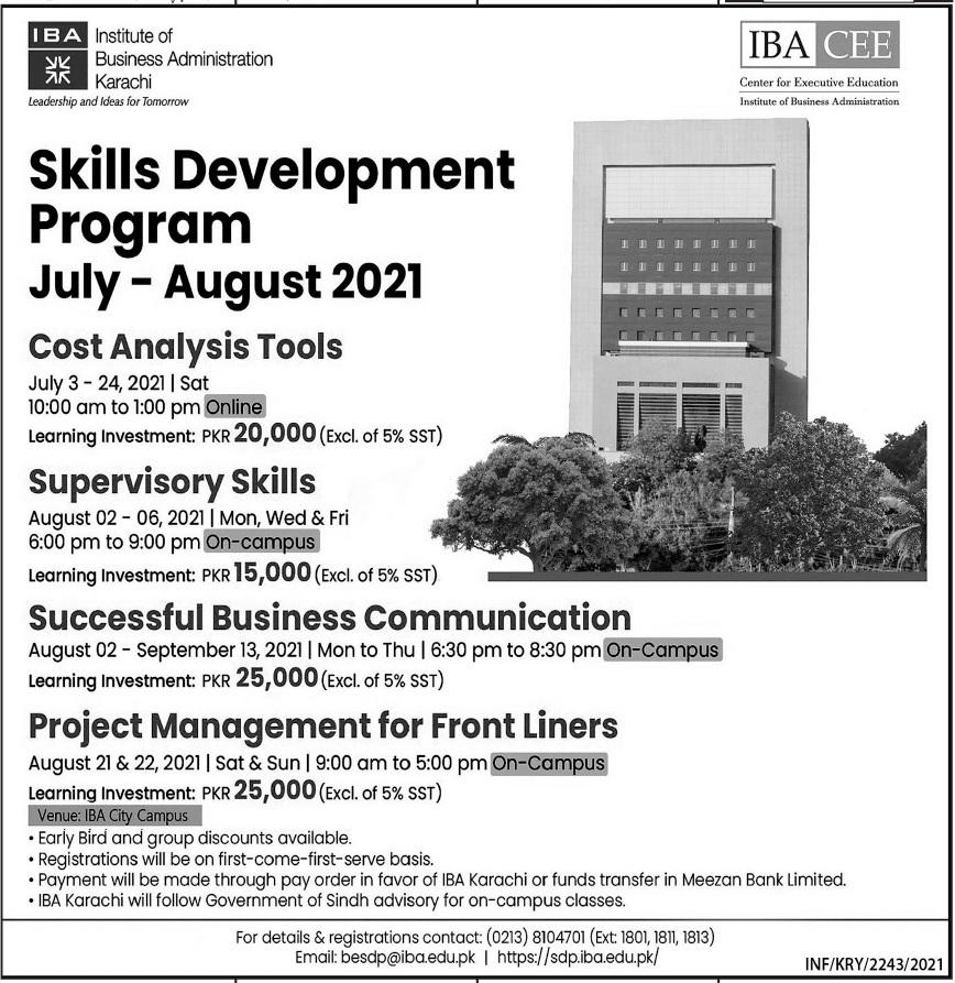 Iba Karachi Admissions