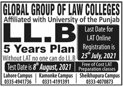 Global Group Of Law Colleges Lahore Admissions