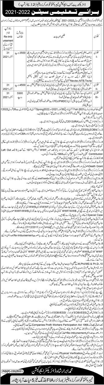 Workers Welfare Board Peshawar Offering Scholarship Programs