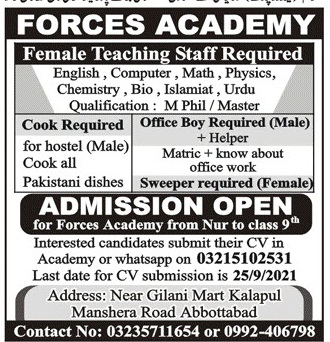 Forces Academy Abbottabad Admissions