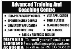 Margalla Language Academy Lahore Offering Professional Courses
