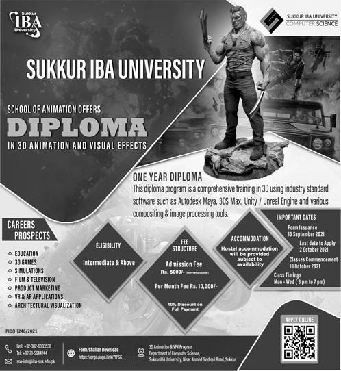 Sukkur Institute Of Business Administration University Admissions