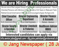 Pakistan Based Company jobs newspaper ad for Director in Lahore