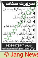 Pakistan Based Company jobs newspaper ad for Junior Accountant in Multiple Cities