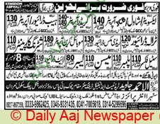 Al Ahmad Javed Trade Test & technical Training Center jobs newspaper ad for Mason in Mardan