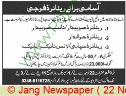 Private Limited Company jobs newspaper ad for Retired Army Officer in Lahore