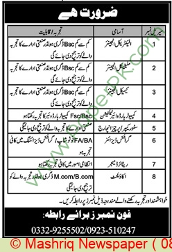 Construction Company jobs newspaper ad for Engineer in Peshawar on 2021-01-08