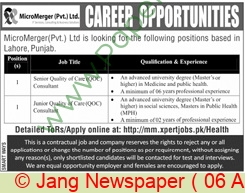 MicroMerger Private Limited jobs newspaper ad for Senior Quality Of Care in Peshawar on 2021-04-06