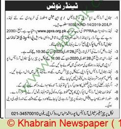 Cod Karachi Tender Notice